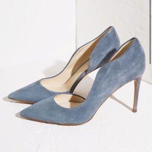 Nine West tikkit dorsay suede heels